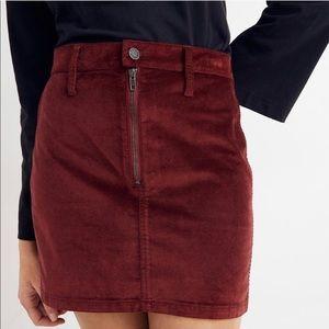 Madwell Velvet Skirt Stretch Denim Small NWT